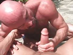 Hairy Daddy And Young Lad Warm Each Other Up 1