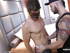 Straight stud Sebastien gets worshipped & sucked by pornstar Manuel Deboxer.