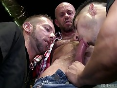 They all join in for some steamy three way action swapping sucks and eating ass until boos man Matt is ready to fuck both there asses.