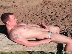 Adam Hardy Gets Horny At The Beach 3