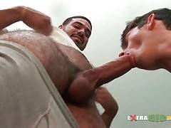 Tough Bear Gets His Big Dick Sucked 1